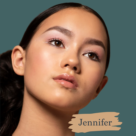 SAPPHO - Essential Foundation - Jennifer is a golden slight tan base.   , clean foundations, natural, cruelty-free, made in canada