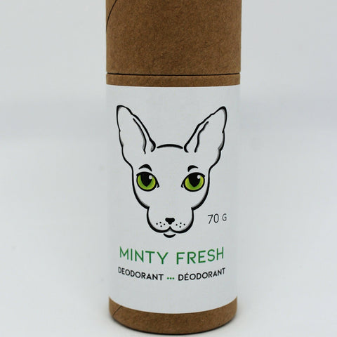Naked Kitty Naturals - Natural Deodorant - Minty Fresh in a Paper Tube