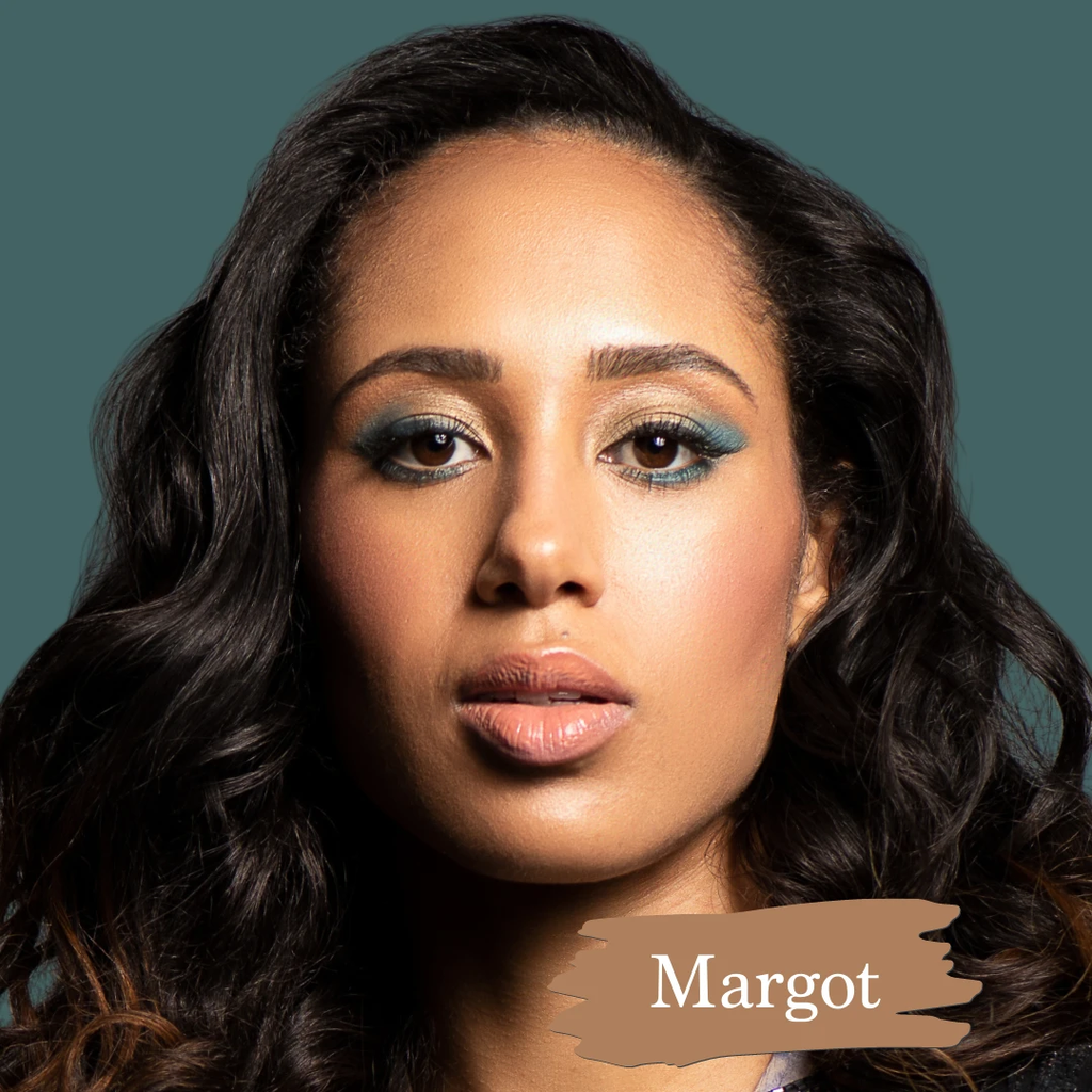 SAPPHO - Essential Foundation - Margot is a medium dark with a slightly yellow base.   , clean foundations, natural, cruelty-free, made in canada