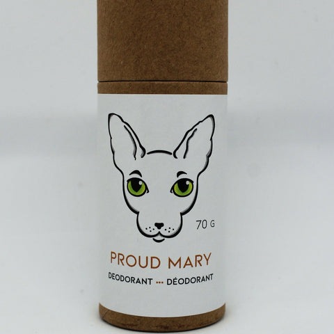 Naked Kitty Naturals - Natural Deodorant - Proud Mary in a Paper Tube