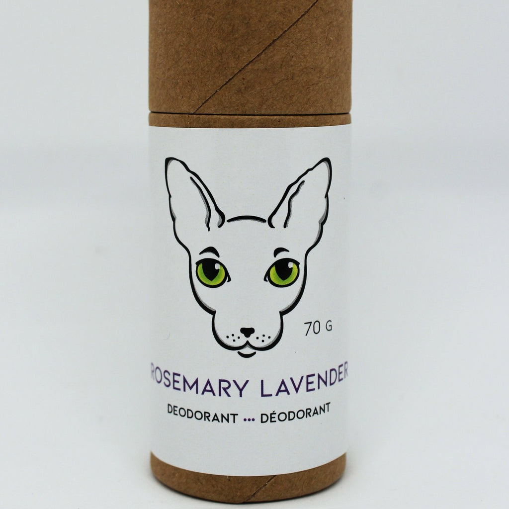 Naked Kitty Naturals - Natural Deodorant - Rosemary Lavender in a Paper Tube
