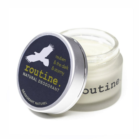 Routine - Natural Deodorant Jar - Reuben & The Dark & Stormy, made in canada, natural deodorant, sustainable, conscious, clean