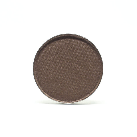 Elate Cosmetics - Create Pressed EyeColour in rise clean, natural, cruelty free, made in canada. Rise is a deep neutral brown with subtle shimmer.