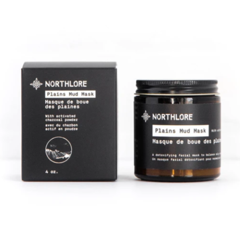 Northlore - Plains Mud Mask all natural skincare made in canada activated charcoal acne prone oily skin