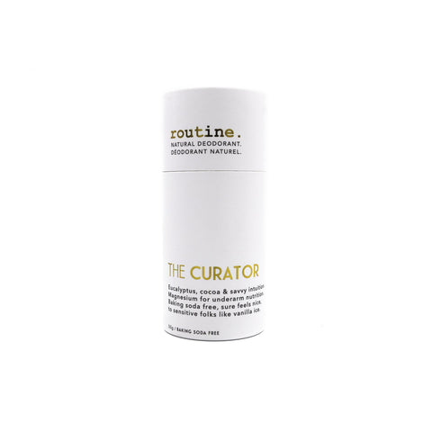 Routine - Natural Deodorant - The Curator (Baking Soda Free) made in canada, cruelty free