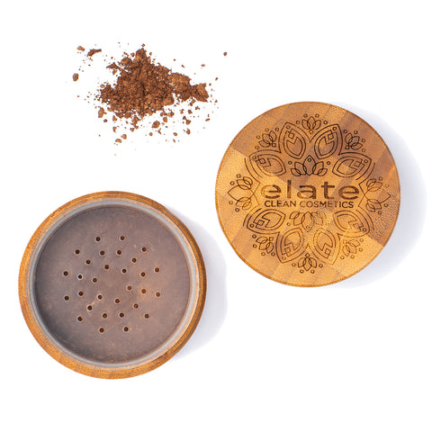 Elate Unify bronze Powder -  Deep in bamboo jar made in canada, clean, natural, cruelty-free, sustainable