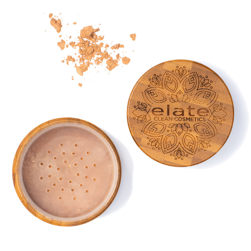 Elate Unify bronze Powder -  Light in bamboo jar made in canada, clean, natural, cruelty-free, sustainable