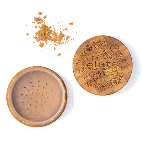 Elate Unify bronze Powder -  medium in bamboo jar made in canada, clean, natural, cruelty-free, sustainable