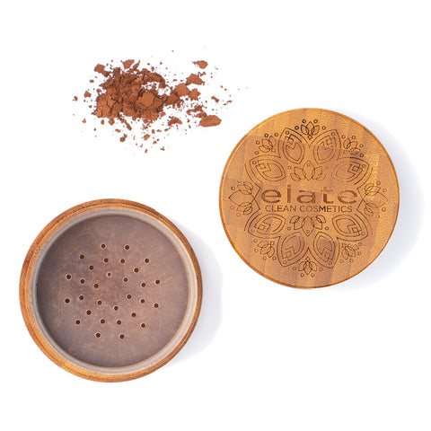 Elate Unify Glow Powder -  Deep in bamboo jar made in canada, clean, natural, cruelty-free, sustainable