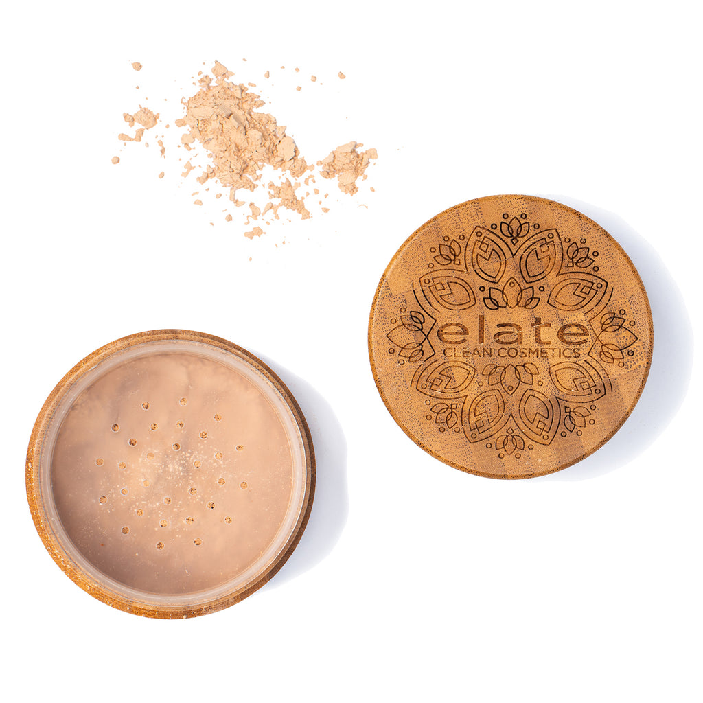 Elate Unify Glow Powder -  Light in bamboo jar made in canada, clean, natural, cruelty-free, sustainable