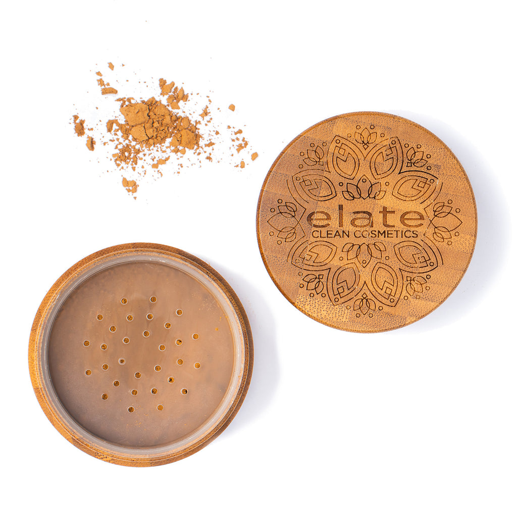 Elate Unify Glow Powder -  mEDIUM in bamboo jar made in canada, clean, natural, cruelty-free, sustainable