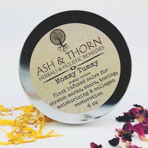 Ash & Thorn - Mommy Tummy Plant Infused Salve made in canada, natural, clean, cruelty-free