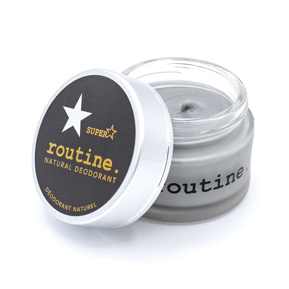 Routine - Natural Deodorant - Superstar - Activated Charcoal, Magnesium, Prebiotics Made in Canada, Clean, Cruelty-free