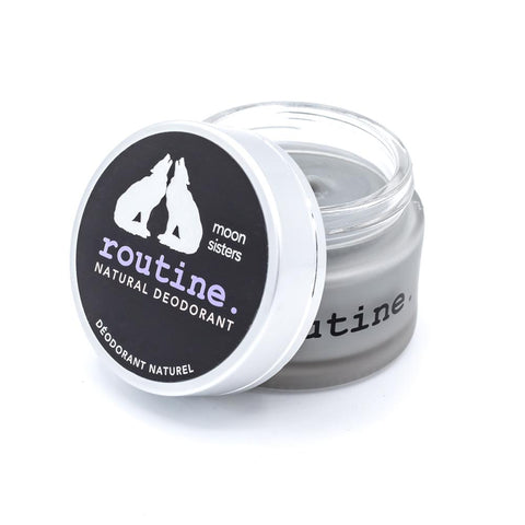 Routine - Natural Deodorant - Moon Sisters - Activated Charcoal, Magnesium, Prebiotics Made in Canada, Clean, Cruelty Free