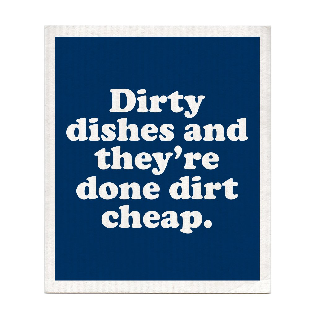 Boldfaced Goods - Biodegradable Swedish Dish Cloth - Dirty Dishes Done Dirt Cheap ACDC kitchen clean sustainable