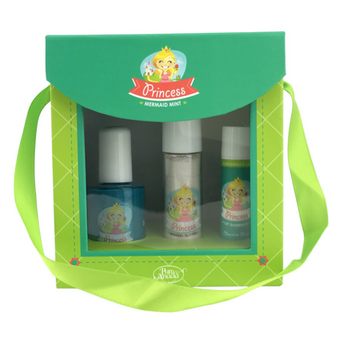 Pure Anada - Princess Gift Pack - Mermiad Mint made in canada, kid's make, safe natural play makeup