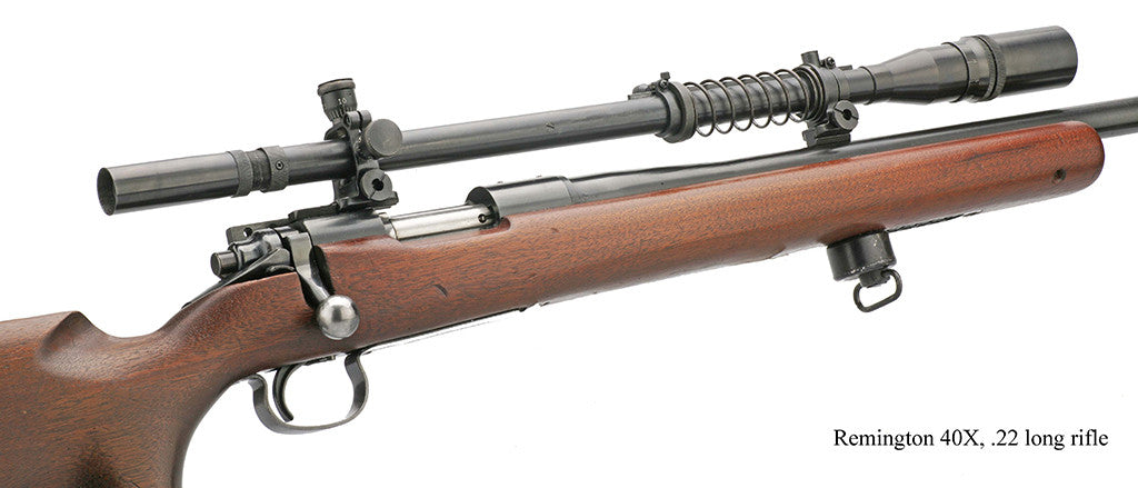 Remington 40X 22LR Rifle with the Malcolm 8X USMC scope