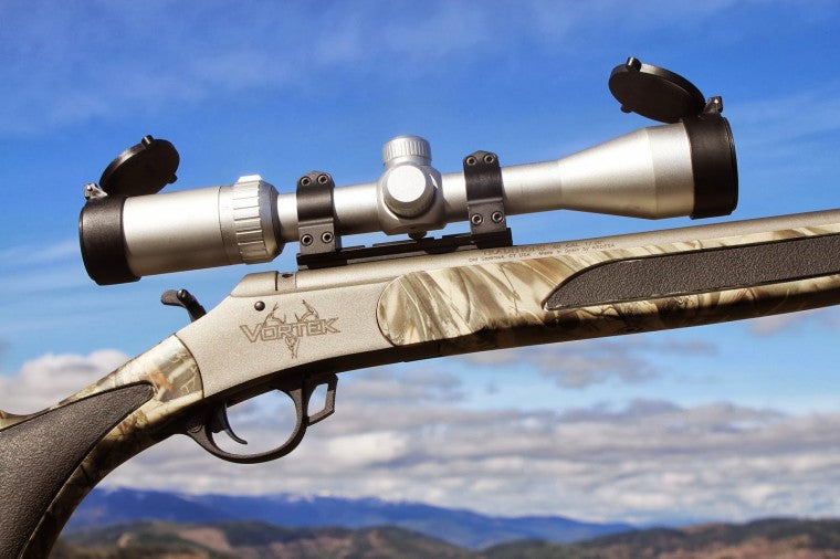 the Toby Bridges muzzeloader scope on a rifle