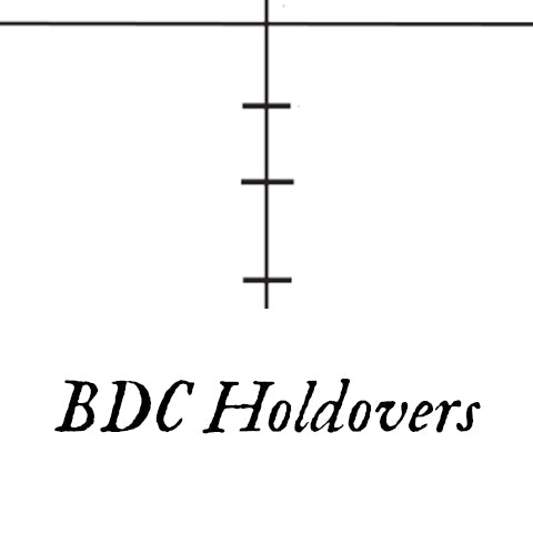 bullet drop compensation holdovers