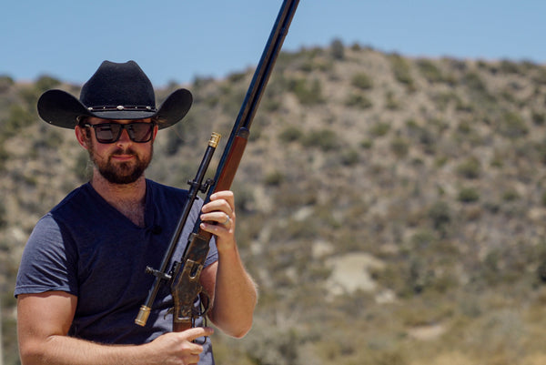 The Winchester 1873 and appropriate hat