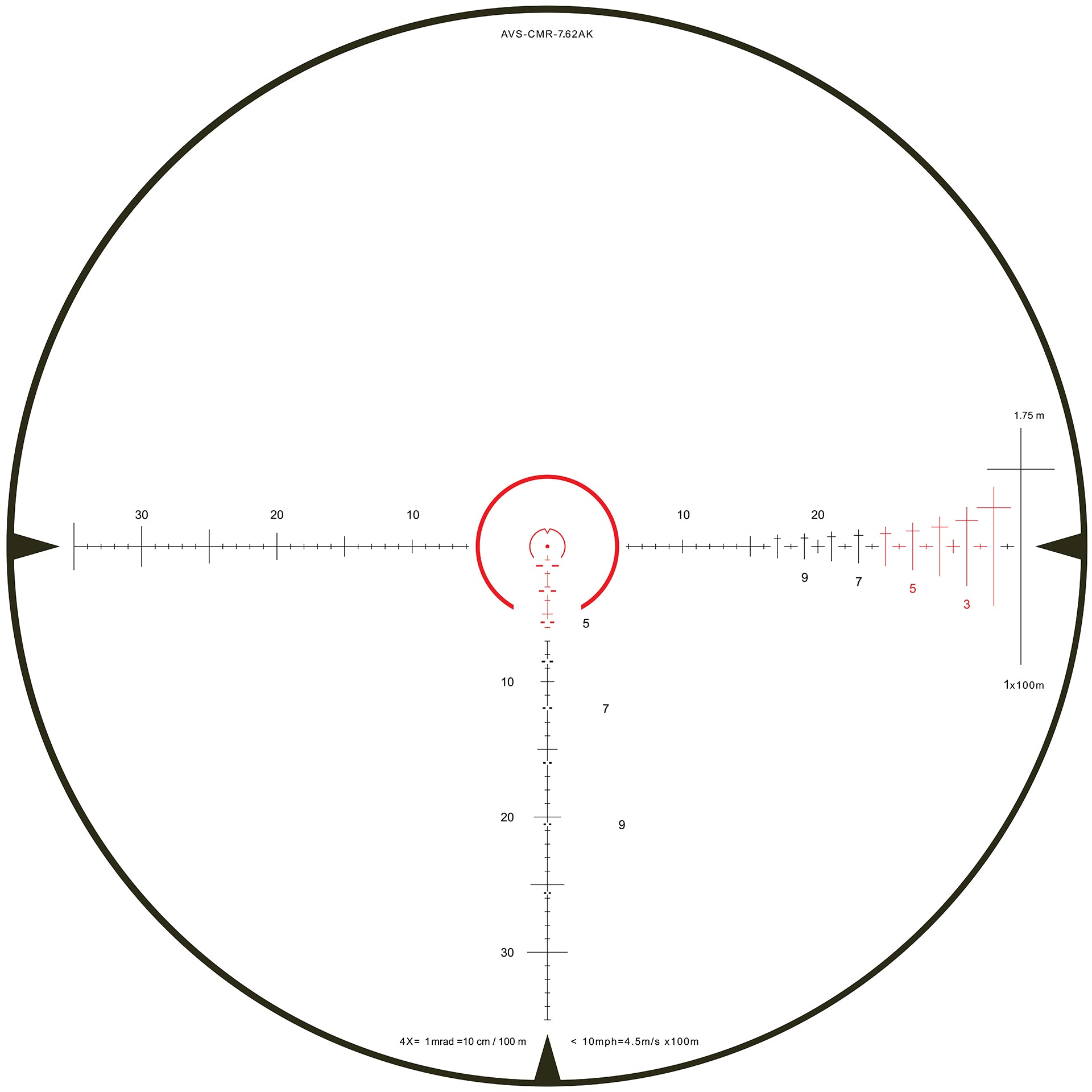 CMR-AK Reticle