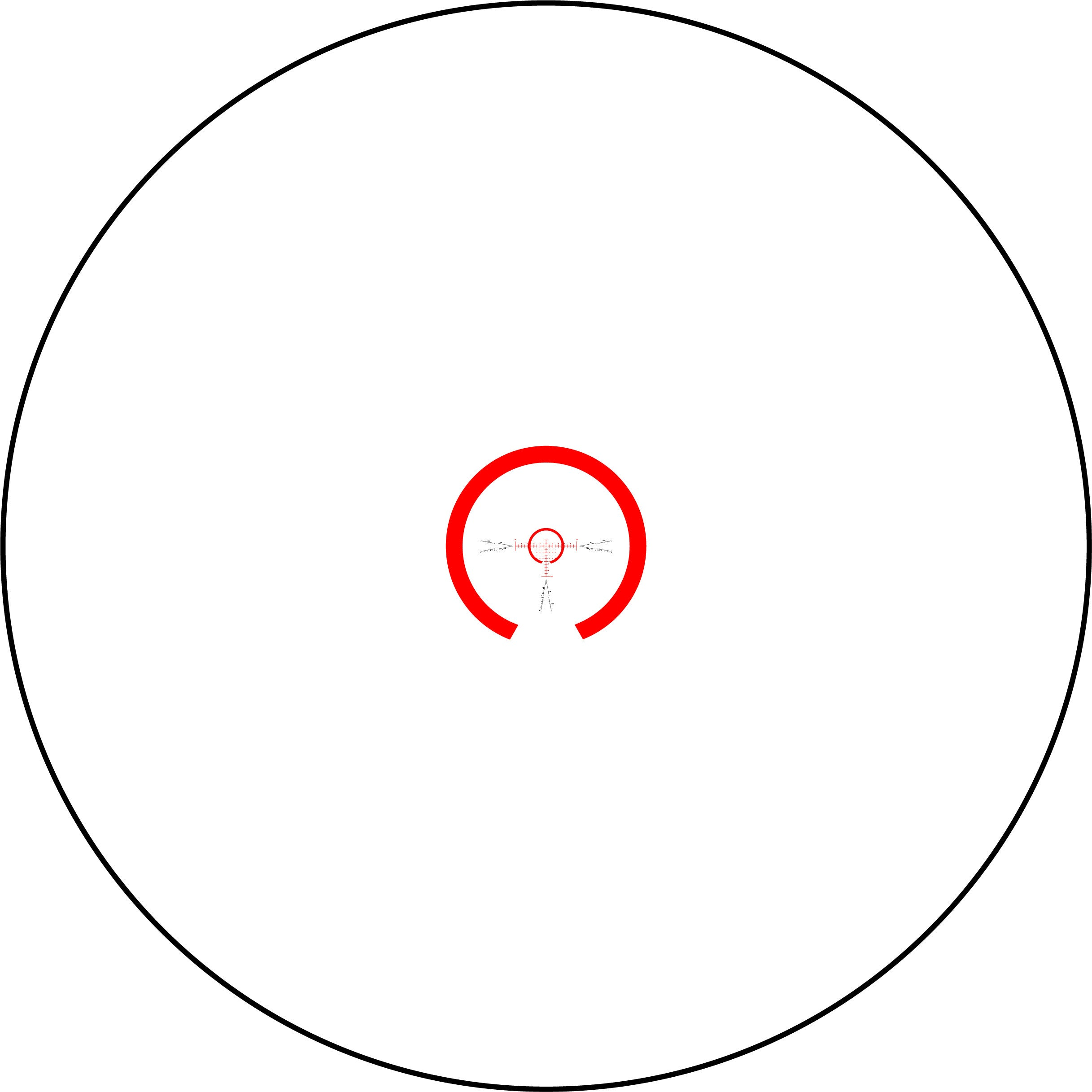 CW-4 FFP 1X Reticle