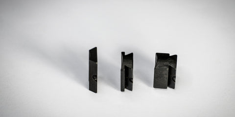 Three curved-bottom blocks showing the different block heights available