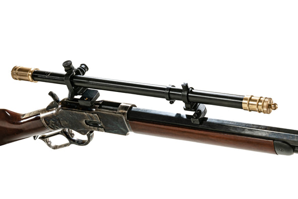 The Winchester 1873 with a Malcolm 6X Two Tone scope and 74/76 No Machining Kit