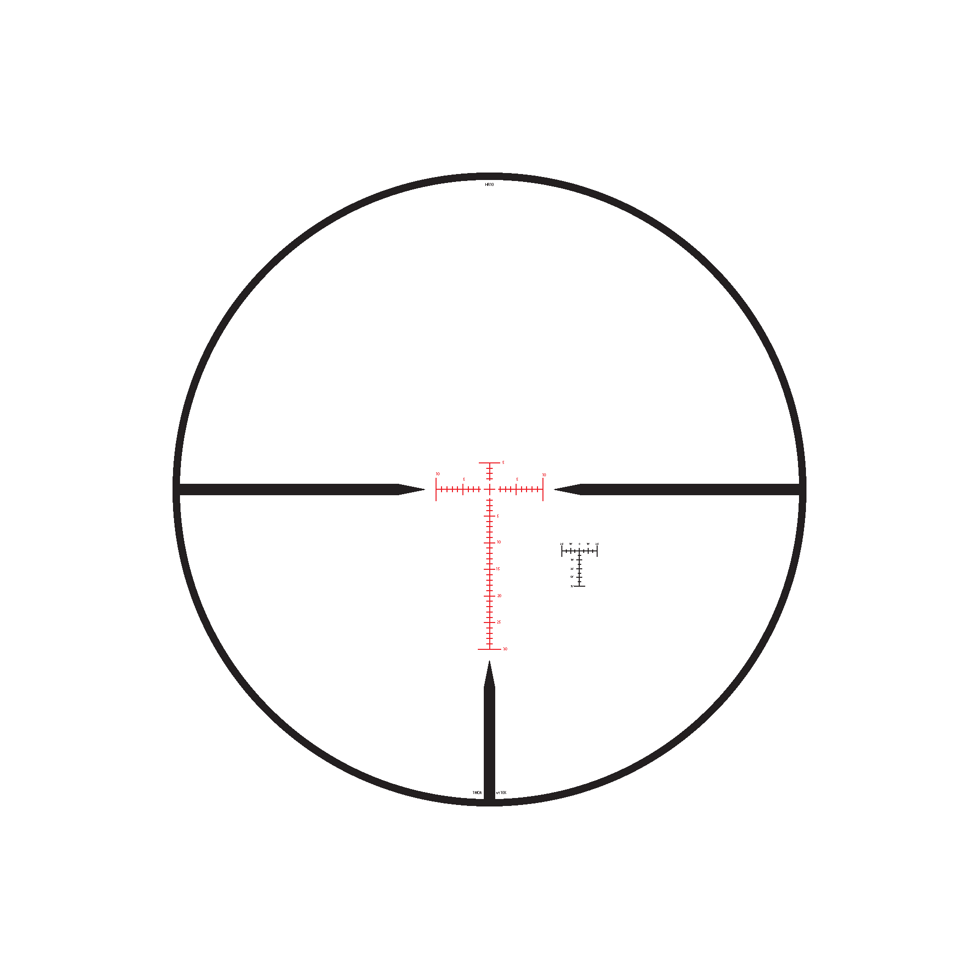 HR1 MOA Reticle
