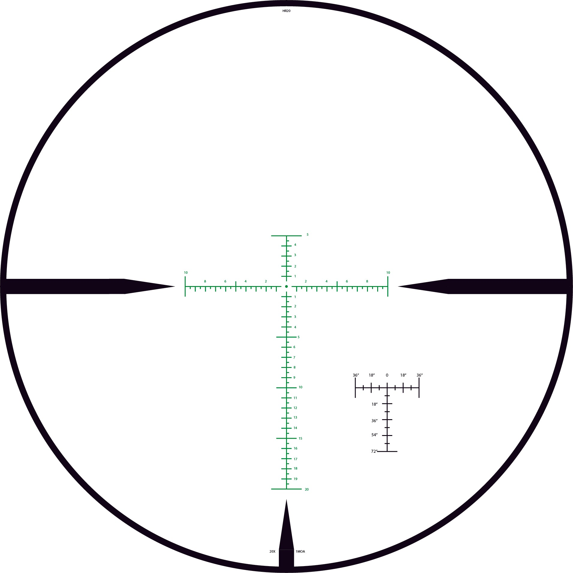HR2 TAC-V 4-20X reticle