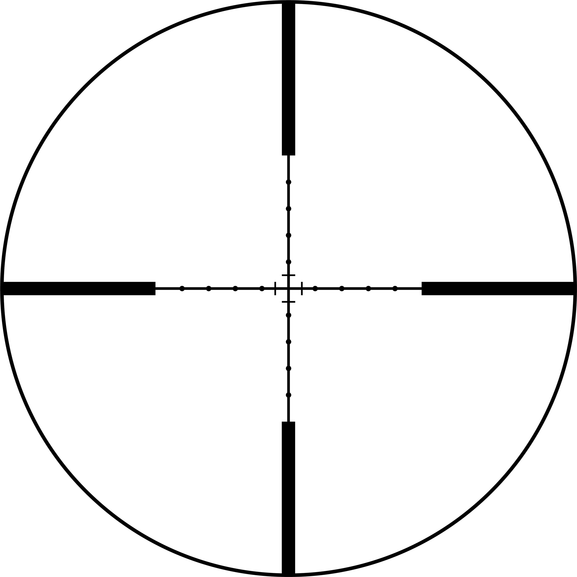 No Math Mil Dot Reticle