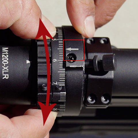 Turn the calibration ring to set the value for the CAM