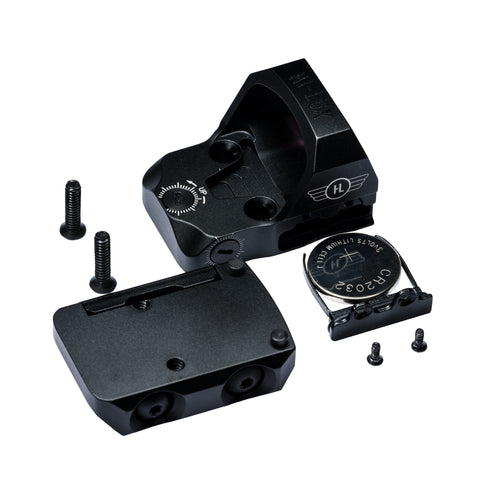The TD3 red dot sight and all accompanying parts