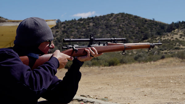 A 1903 rifle with Winchester A5 scope