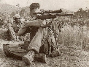 Carlos Hathcock with Unertl Scope on Model 70 Winchester