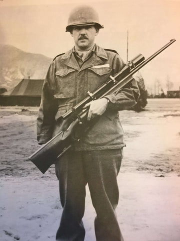 colonel brophy with model 70 winchester and 10X Unertl scope