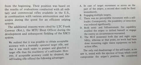LTC Conway Findings on the XM21