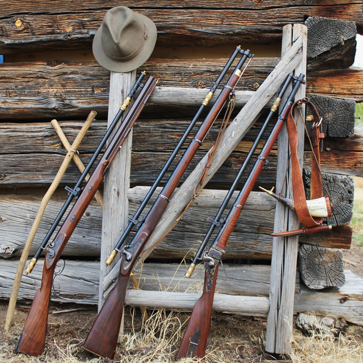 The 6X Long Malcolm Scope mounted on a variety of percussion rifles
