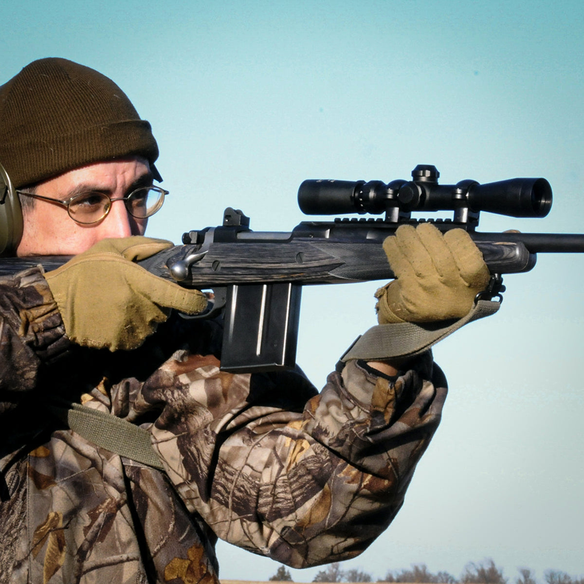 The Long Eye Relief Scope mounted on a Ruger Scout
