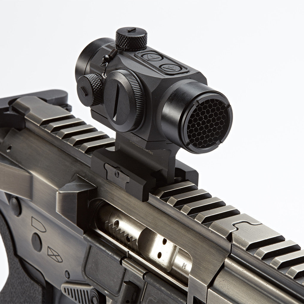 MM-2 red dot Lower 1/3 Riser on DRD AR-15 rifle