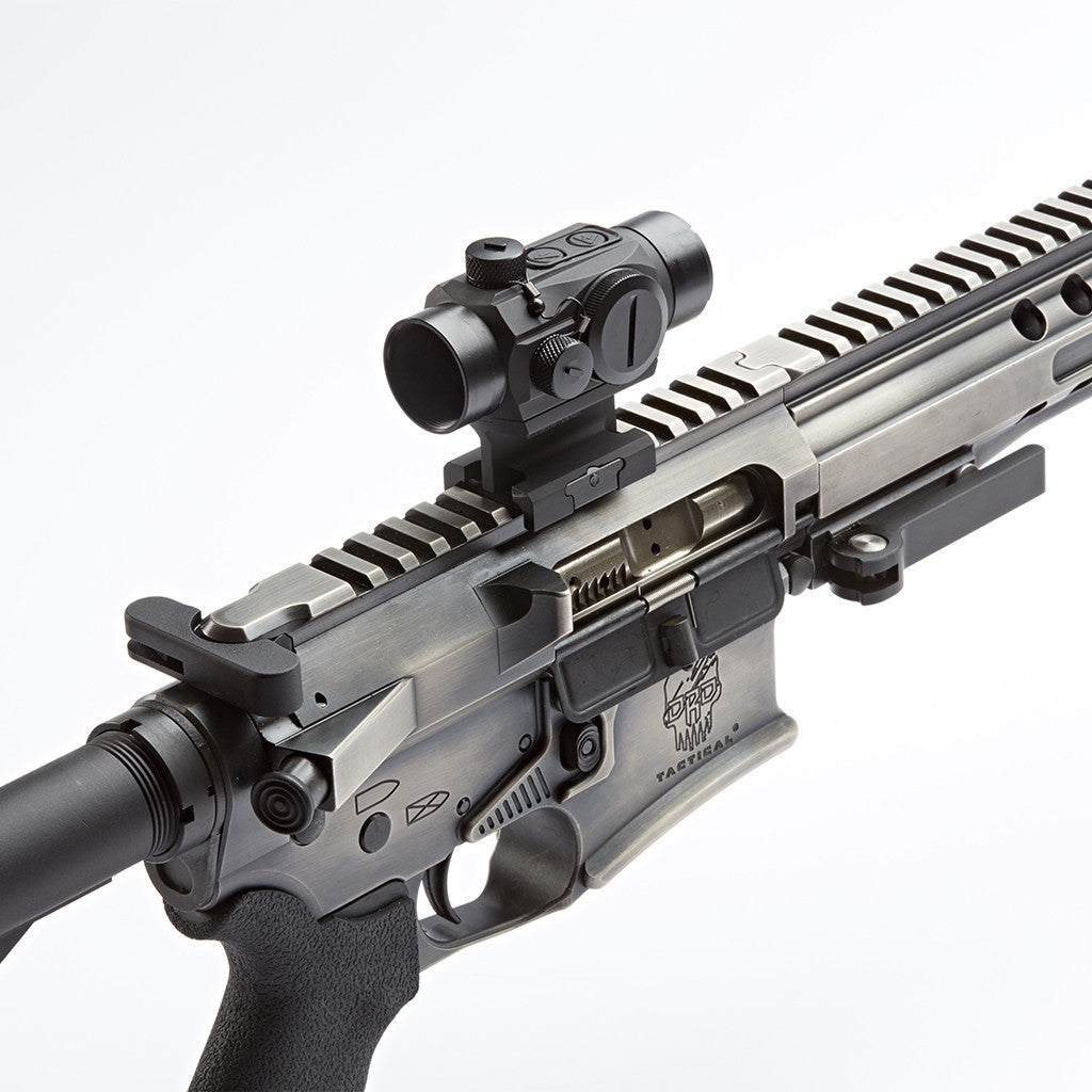 MM-2 red dot with Lower 1/3 Riser on DRD AR-15 rifle