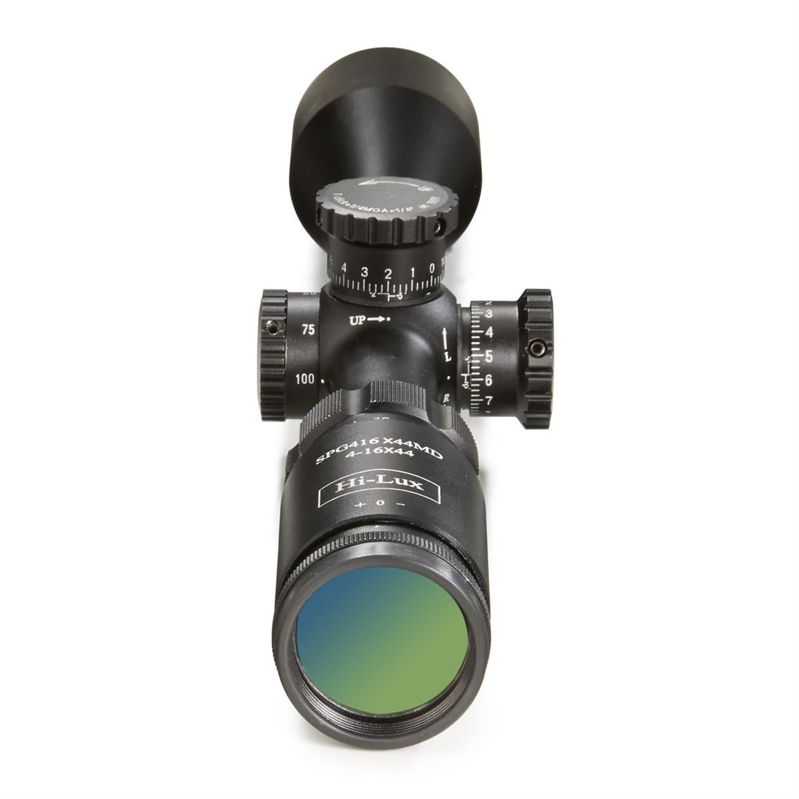 SPG416X44MD rifle scope eyepiece view