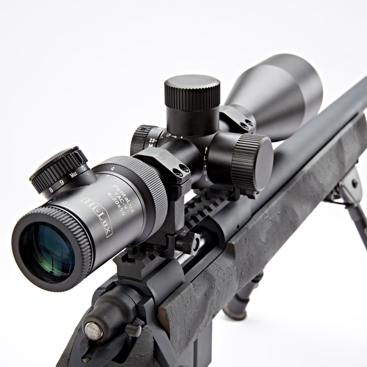TAC-V420 eyepiece view mounted on TYR Bolt rifle