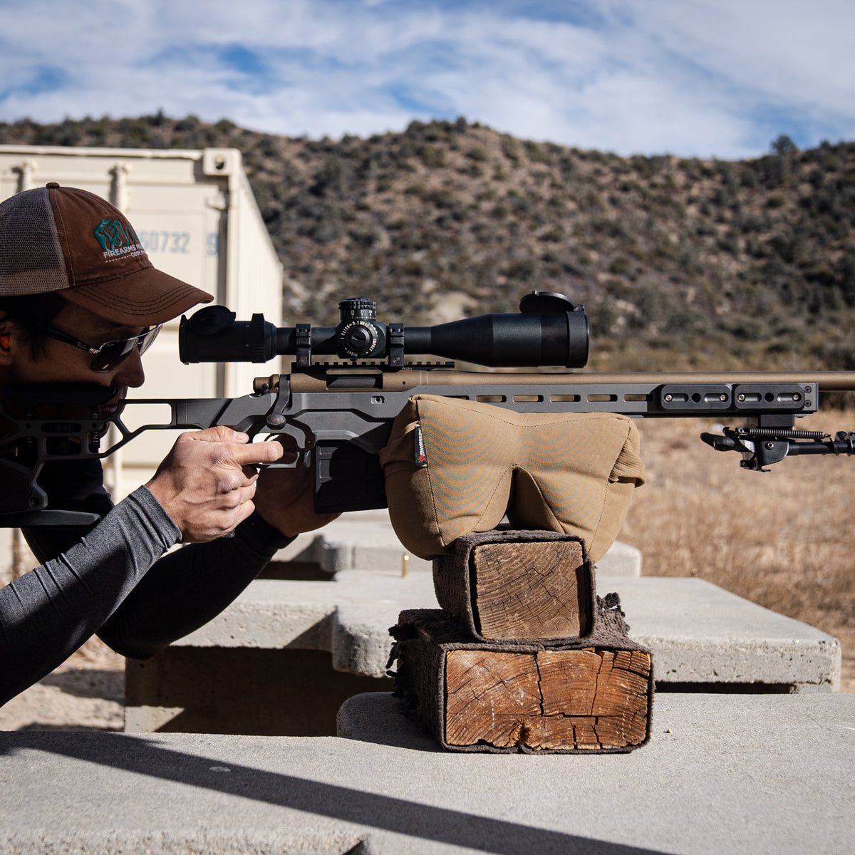 The TacVF 4-20 Scope on a modern bolt action for Precision Rifle competition