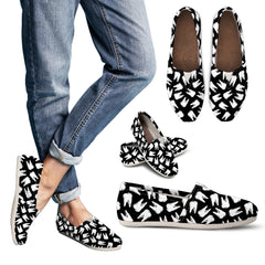 Pearly Whites - Sketched Teeth Pattern Casual Shoes