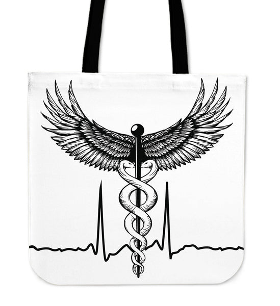 Doctor / Nurse Caduceus Tote Bag
