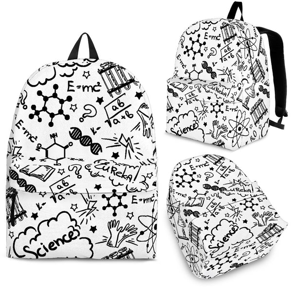College Backpack Student Backpack School Backpack Chemistry Pattern Backpack