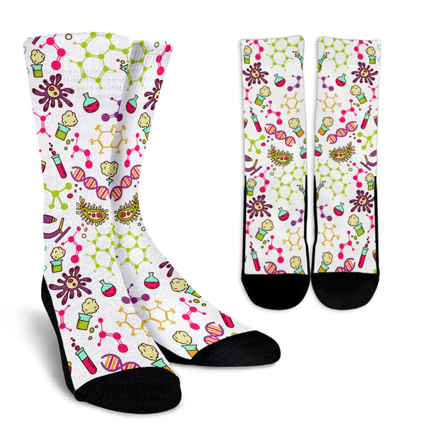 Biology Socks Medicine Socks Printed Socks Cell Pattern Socks