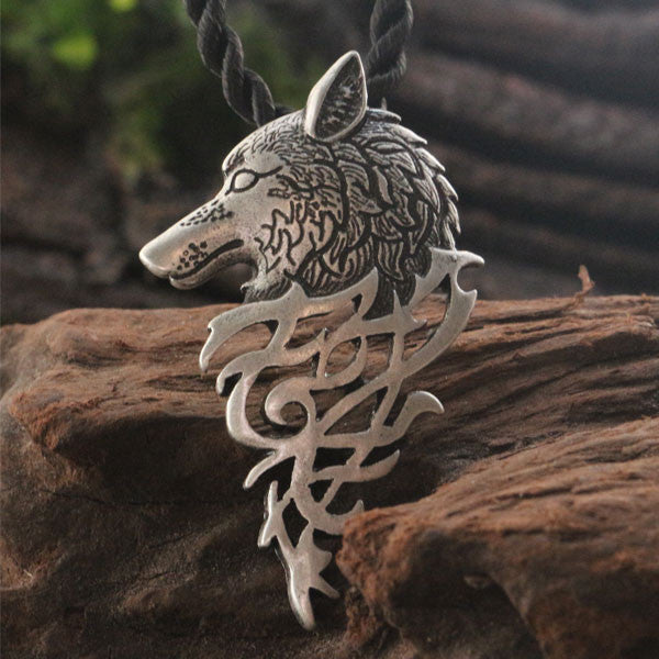 Windstorm Wolf Pendant Necklace
