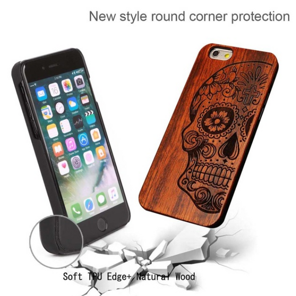 New Brand Thin Luxury Bamboo Wood Phone Case For Iphone 5 5S 6 6S 6Plus 6S Plus 7 7Plus Cover Wooden High-Quality Shockproof